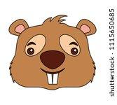 cute beaver head cartoon...   Shutterstock .eps vector #1115650685