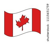canadian flag country icon | Shutterstock .eps vector #1115651759