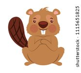 beaver of canada isolated icon   Shutterstock .eps vector #1115651825