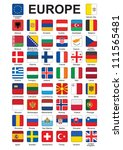 set of push buttons with flags... | Shutterstock . vector #111565481