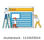young men with web page... | Shutterstock .eps vector #1115655014