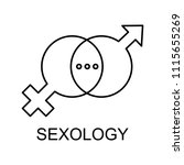 sexology line icon. element of... | Shutterstock .eps vector #1115655269
