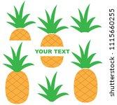 pineapple vector cartoon...   Shutterstock .eps vector #1115660255