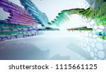 abstract white and colored... | Shutterstock . vector #1115661125