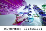 abstract white and colored... | Shutterstock . vector #1115661131