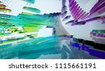 abstract white and colored... | Shutterstock . vector #1115661191