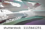 abstract white and colored... | Shutterstock . vector #1115661251