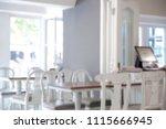 abstract blur luxury coffee... | Shutterstock . vector #1115666945
