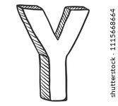 vector doodle sketch... | Shutterstock .eps vector #1115668664