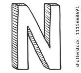 vector doodle sketch... | Shutterstock .eps vector #1115668691