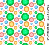 pattern with buttons | Shutterstock .eps vector #111566981