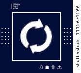 reset button  reload arrows  ...   Shutterstock .eps vector #1115674199