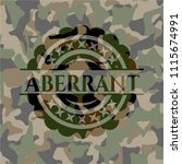 aberrant on camo pattern | Shutterstock .eps vector #1115674991