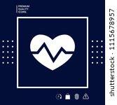 heart medical icon   Shutterstock .eps vector #1115678957