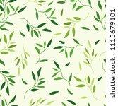 seamless pattern leaves | Shutterstock .eps vector #1115679101