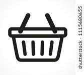 illustration of basket icon on...   Shutterstock .eps vector #1115680655