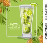 cocktail free drink tomorrow | Shutterstock .eps vector #1115681981