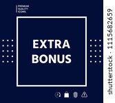 extra bonus   button   Shutterstock .eps vector #1115682659