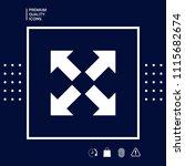 extend  resize icon. cross... | Shutterstock .eps vector #1115682674