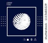 earth logo design with grunge... | Shutterstock .eps vector #1115683229