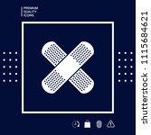 cross adhesive bandage  medical ... | Shutterstock .eps vector #1115684621