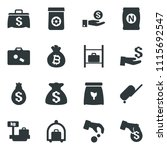 black vector icon set...