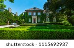luxury house in the suburbs of... | Shutterstock . vector #1115692937