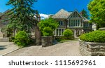 luxury house in the suburbs of... | Shutterstock . vector #1115692961