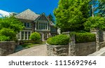 luxury house in the suburbs of... | Shutterstock . vector #1115692964