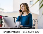 young smiling business woman... | Shutterstock . vector #1115696129