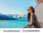 luxury travel alaska cruise... | Shutterstock . vector #1115696984