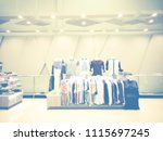 abstract blur in clothing store ... | Shutterstock . vector #1115697245