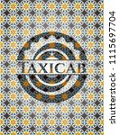taxicab arabic style badge.... | Shutterstock .eps vector #1115697704