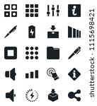 set of vector isolated black...   Shutterstock .eps vector #1115698421