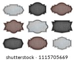 metal plate sign design with... | Shutterstock . vector #1115705669