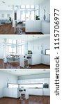 3d illustration of three views...   Shutterstock . vector #1115706977