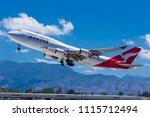 Qantas 747 400 Plane  Scel  Scl....