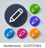 illustration of pencil circle...   Shutterstock .eps vector #1115727461