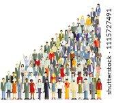 an international population ... | Shutterstock .eps vector #1115727491