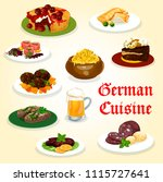 german cuisine tasty dinner...