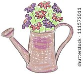 illustration of watering can...   Shutterstock .eps vector #111573011
