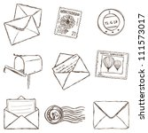 illustration of postal and... | Shutterstock .eps vector #111573017