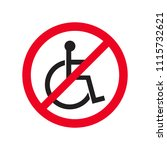 no disabled people flat symbol... | Shutterstock .eps vector #1115732621