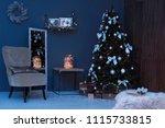 room interior with beautiful... | Shutterstock . vector #1115733815