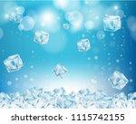 ice cube wallpaper. vector... | Shutterstock .eps vector #1115742155