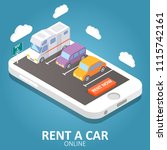 Online Car Rental Concept...