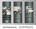 set of roll up banner stands ... | Shutterstock .eps vector #1115742221