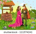 prince and princess at the... | Shutterstock .eps vector #111574241