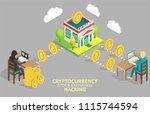 cryptocurrency stock exchange...   Shutterstock .eps vector #1115744594