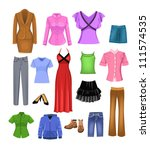 women clothes | Shutterstock .eps vector #111574535